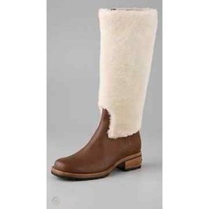 UGG CHRYSTIE SHEARLING TALL RIDING BOOTS